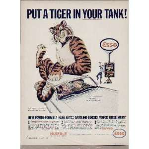 Put A TIGER In Your Tank! .. 1964 ESSO / Humble Oil