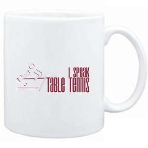 Mug White  I SPEAK Table Tennis  Sports Sports