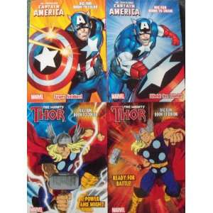 Marvel Comic Jumbo Coloring & Activity Book Set of 4