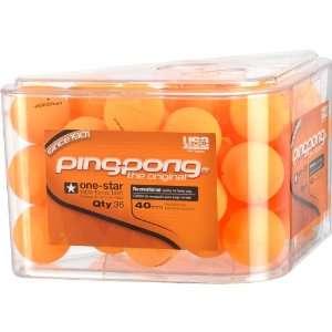 Ping Pong 36Pk Balls Orange