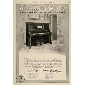 1910 Ad Starr Upright Player Piano Richmond Indiana