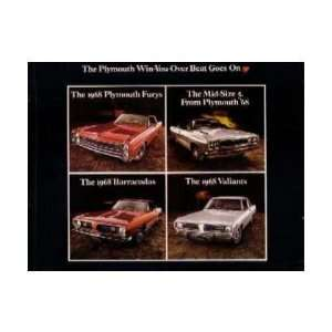 1968 PLYMOUTH FURY BARRACUDA VALIANT Sales Brochure Book