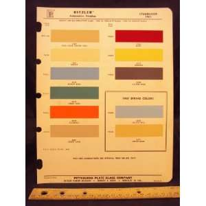 1961 STUDEBAKER + 1960 Spring Paint Colors Chip Page