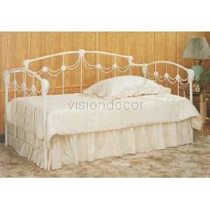 Ivory White Princess Style Daybed w/Link Spring Home