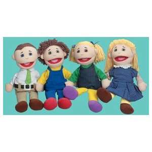 Full Bodied Open Mouth Puppets   White Family