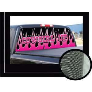 CowGirl Up Pink 16x54  Rear Window Graphic   decal tint window film