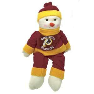 4 NFL Washington Redskins Plush Snowman Snowflake Friend