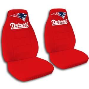 Red New England seat covers for a 2007 to 2012 Chevrolet Silverado