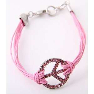 Fashion Jewelry Desinger Inspired Peace Symbol Bracelet