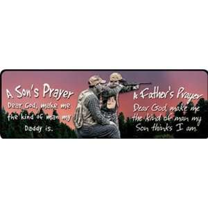 Edge Products Father Son Prayer Hunting Tin Sign