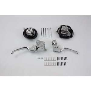 Chrome Handlebar Control Kit with Switches 07 Up 9/16 Bore Single