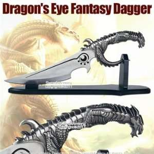 Eye Fantasy Dagger Sword with Table Top Stand