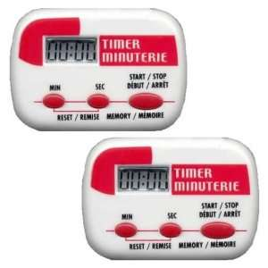 2X LCD DIGITAL TIMERS HOME KITCHEN CAFE CHEF WITH ALARM