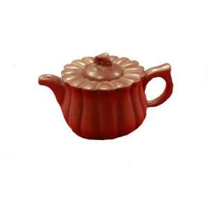 Brown handmade chinese Yixing pottery pumpkin design tea