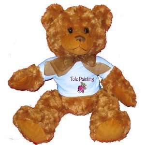 Tole Painting Princess Plush Teddy Bear with BLUE T Shirt