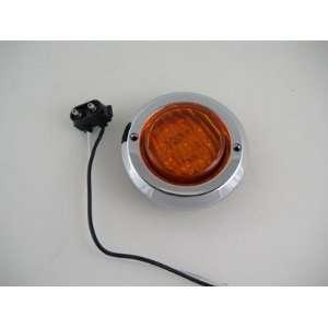 Round 9 LED Truck Trailer Marker Clearance Light Kit / Chrome Bezel