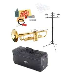 Series Trumpet Bundle with Music Stand, Care Kit, Hard Shell Case