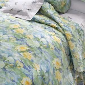 Serenity Percale Duvet Cover ( Twin, Green/Multi )