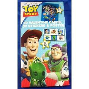 Toy Story 32 Valentine Cards Stickers & Poster Toys