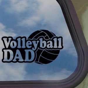 Volleyball Dad Black Decal Car Truck Bumper Window Sticker