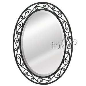 Wall Mirror Black Metal Frame