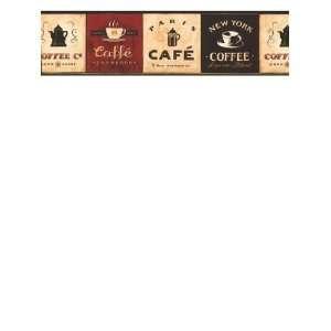 Wallpaper York Border Gallery Coffee Signs EB8900B