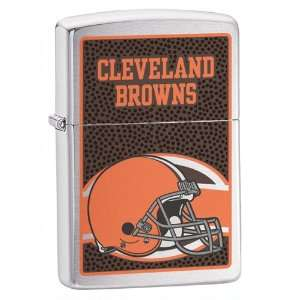 Zippo Cleveland Browns High Polish Chrome Lighter Jewelry