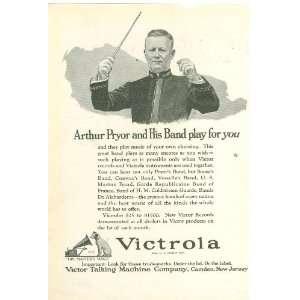 1922 Advertisement Victrola Talking Machine Arthur Pryor