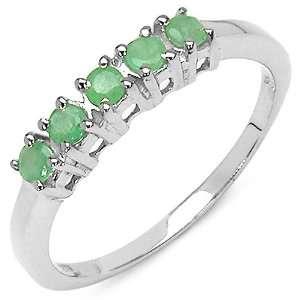 40 Carat Genuine Emerald Sterling Silver Ring