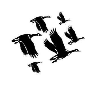 Wild Geese In Flight Hunting Decal Cabin Wall Decal 6 Decal Kit Huge