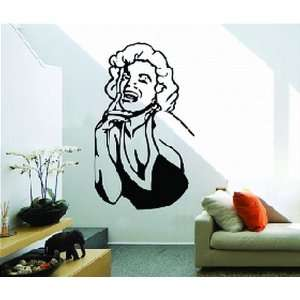 Monroe Black and White Wall Sticker Decal for Bedroom Living Room