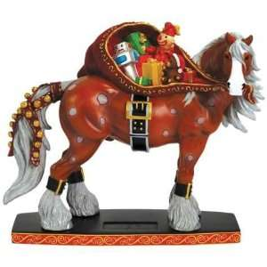 Brown Horse With White Mane And Feet Carrying Sack Of Toys