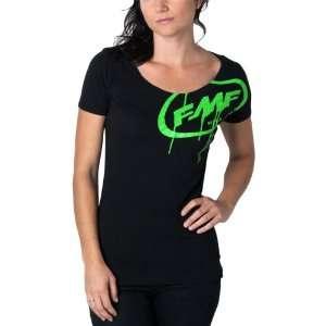 FMF Wet Paint Womens Short Sleeve Casual Shirt   Black