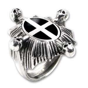 Saint Ankous Shield Iron Cross Gothic Ring Size 12.5