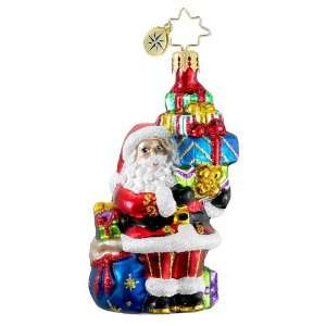 RADKO TIP TOP CLAUS GEM Santa Glass Christmas Ornament
