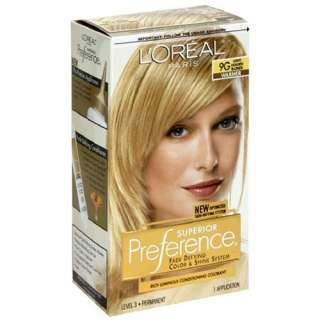 LOreal Preference Hair Color   Light Golden Blonde 9G Beauty
