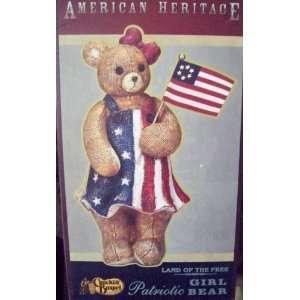 Land of the Free Patriotic Girl Bear (Cracker Barrel) Everything Else