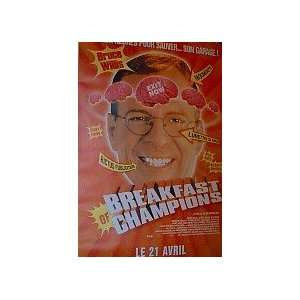 BREAKFAST OF CHAMPIONS (FRENCH ROLLED) Movie Poster