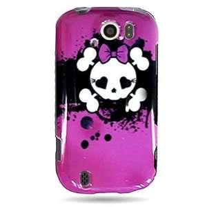 GIRL SKULL Design Faceplate Cover Sleeve Case for HTC MYTOUCH 4G SLIDE