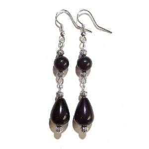 The Black Cat Jewellery Store Black Obsidian Tear Drop