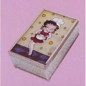 Chef Betty Boop Striking a Pose Painted Jewelry Box #8110