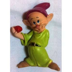 2 Disney Snow White, Dopey Dwarf Doll Toy, Cake Topper