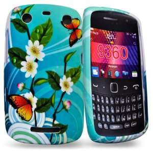 Mobile Palace  Sky blue flower silicone case cover pouch