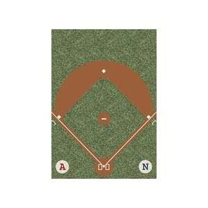 Dream Field Play Ball 54 x 78 Sports Area Rug Sports