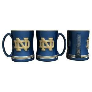 Notre Dame Fighting Irish Coffee Mug   15oz Sculpted