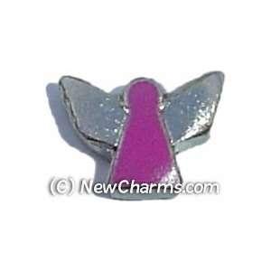Pink Angel Floating Locket Charm