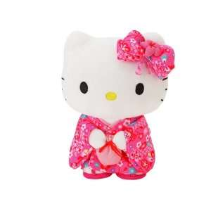 Sanrio Hello Kitty Small Standing Plush Doll Pink Kimono