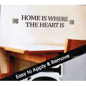 Decorative Wall Stickers   HOME IS WHERE THE HEART IS