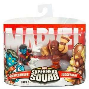 Marvel Super Hero Squad Nightcrawler & Juggernaut Toys & Games