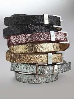 New York & Company   Belts   Sparkle Skinny Belt